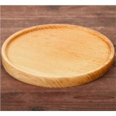 Деревянная тарелка с прямым бортиком (20 см)