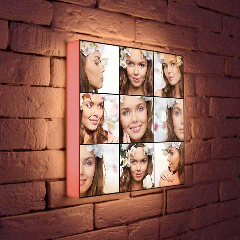 светильник с фотографиями на заказ вкусом обставить