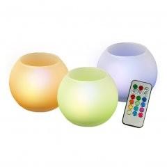 LED свечи с пультом ДУ, стеклянные