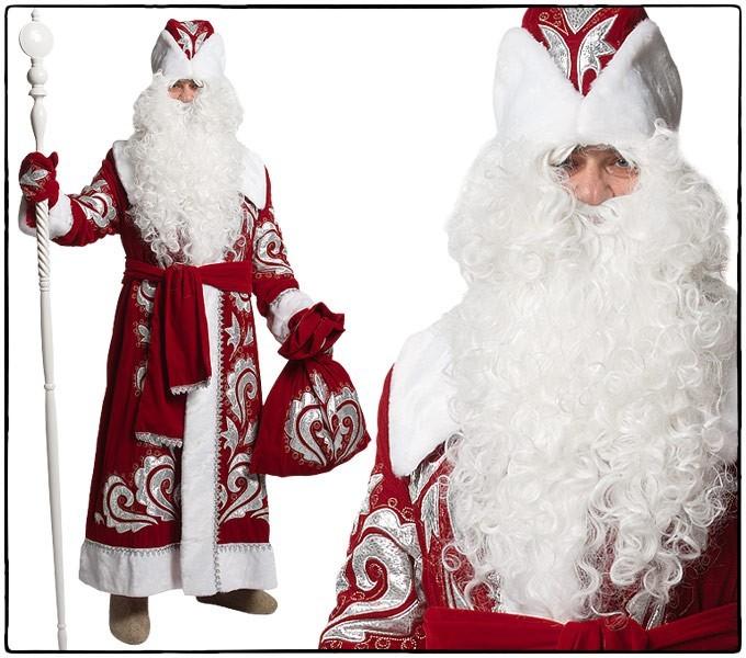 Костюм Дед Мороз, боярский бархат с вышивкой