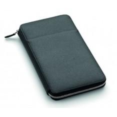 Черный дорожный бумажник на молнии Graf von Faber-Castell