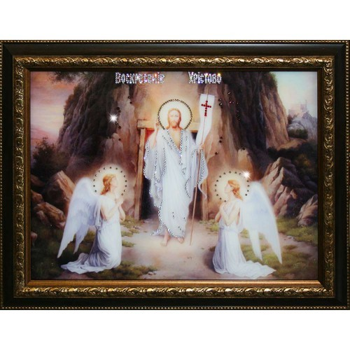 Картина из кристаллов Swarovski Воскресение Христово