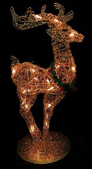 Новогодняя экстерьерная фигура Северный олень с подсветкой