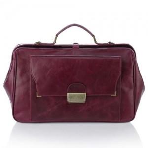 Женская сумка-портфель Ретро (фиолетовая)