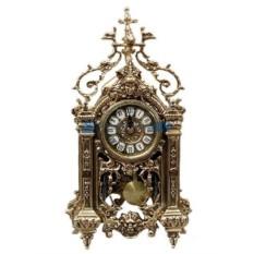 Часы из бронзы с маятником Леон, золотые