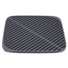 Маленький серый коврик для сушки посуды Flume