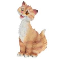 Декоративная садовая фигура Забавный рыжий кот