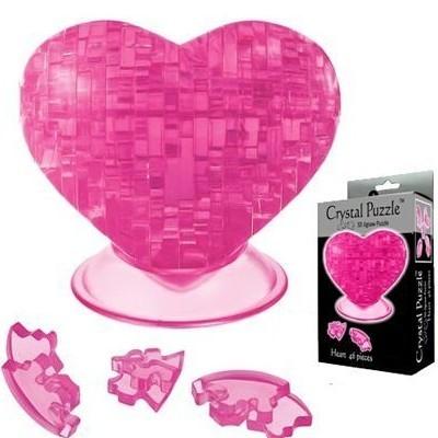 3D головоломка Сердечко розовое