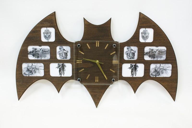 Оригинальные настенные часы фоторамки Разведка