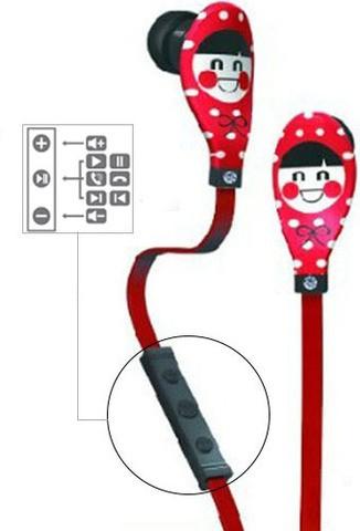 Наушники Ounuo iDot III с гарнитурой (Red)