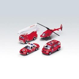 Игровой набор машин Пожарная служба 4 шт. Welly