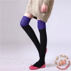 Черно-фиолетовые высокие гольфы