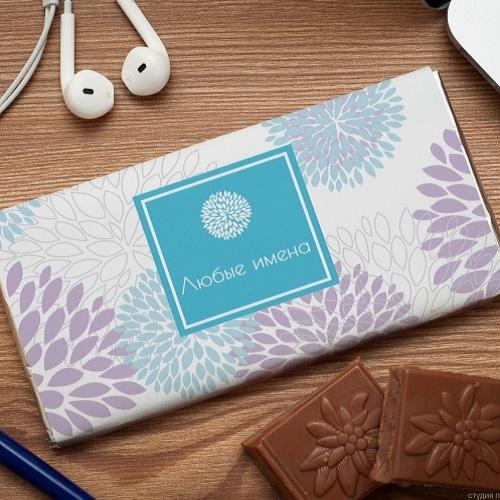 Шоколадная открытка Лепестки счастья
