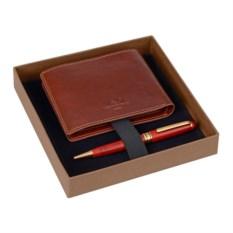 Набор из портмоне и шариковой ручки Премьер