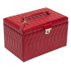 Красная стеганая шкатулка для украшений Wolf Caroline
