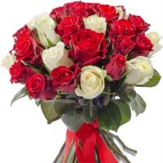 Букет цветов 41 роза микс (40 см.)