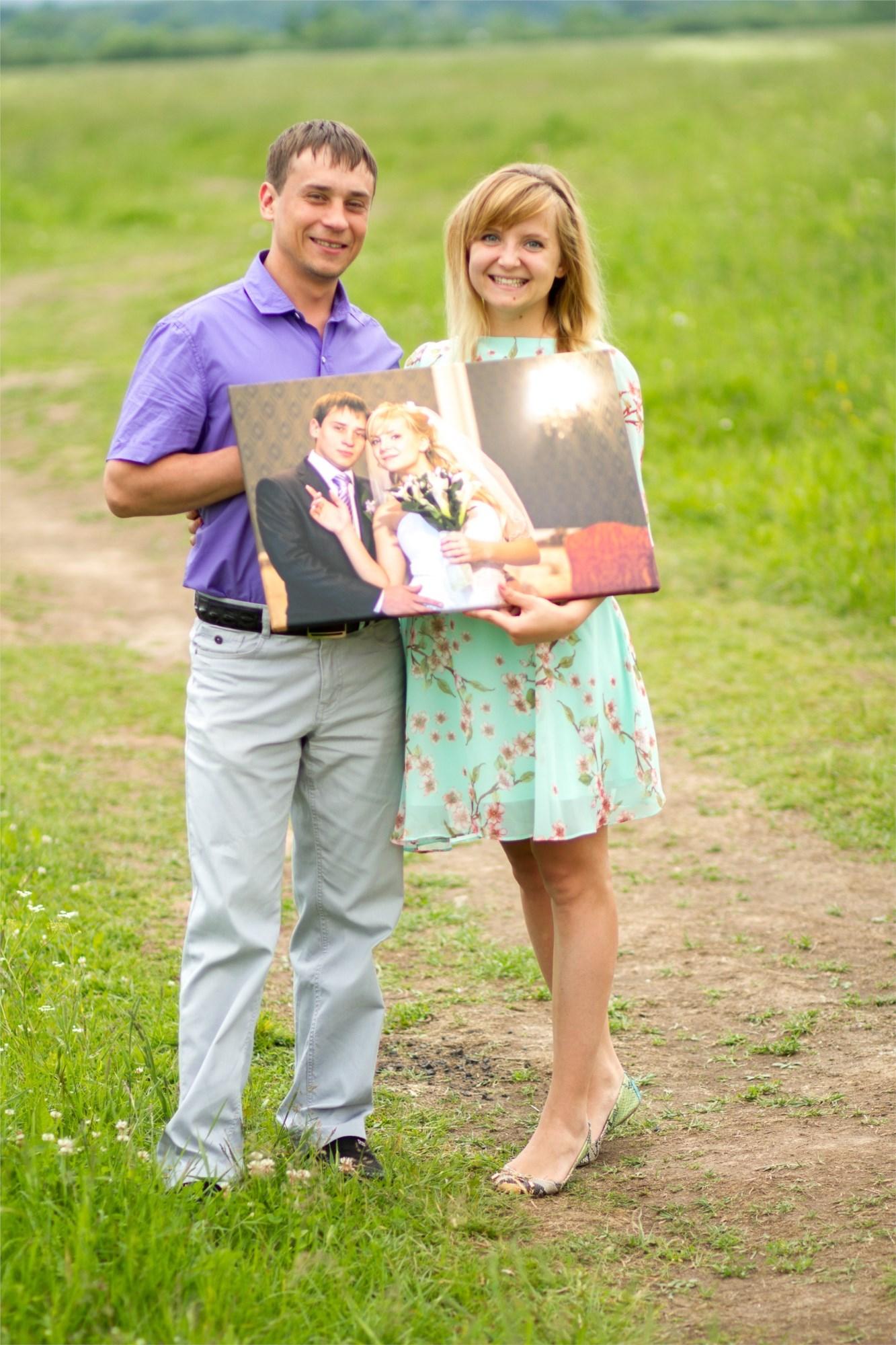 Свадебная фотография на холсте
