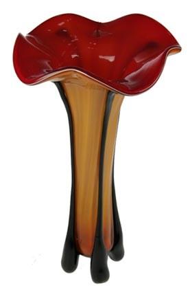 Декоративная ваза, красная