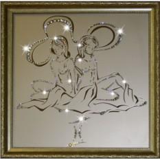 Картина с кристаллами Сваровски Близнецы