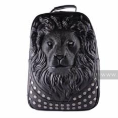 Черный рюкзак Versace с изображением льва Аслана