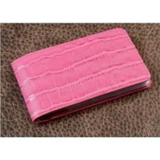 Розовая карманная визитница