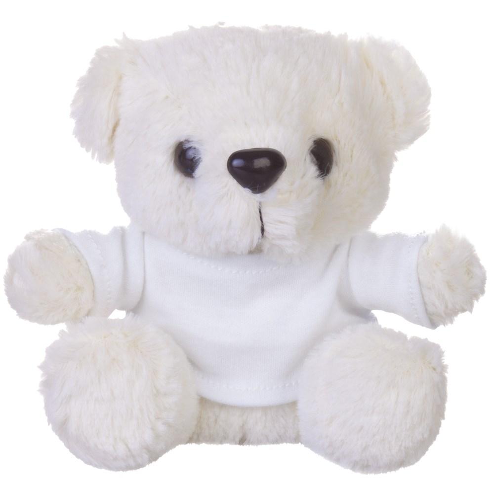 Мягкая игрушка «Медвежонок Умка в футболке» (цвет: белый)