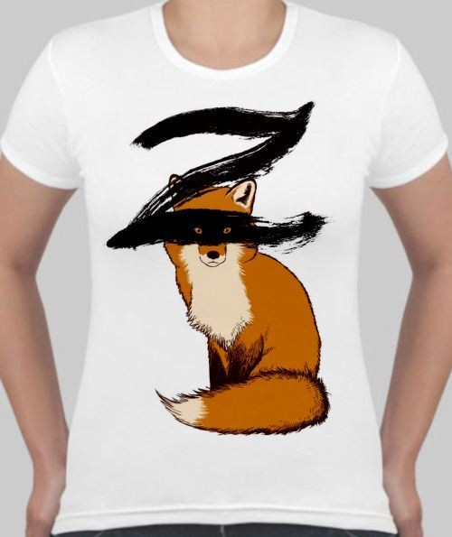Женская футболка Зорро, лиса