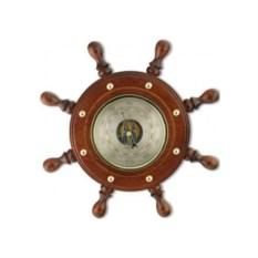 Сувенирный барометр Штурвал из бука