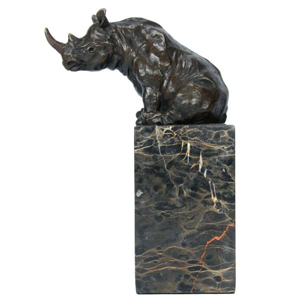 Бронзовая статуэтка Носорог сидит