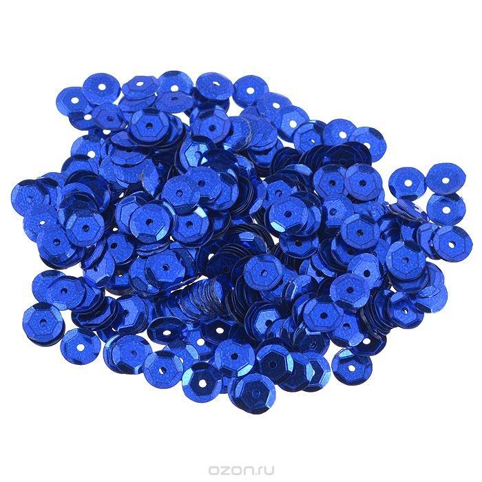 Граненые пайетки Астра, цвет: темно-синий, 6 мм, 10 г. 7700472_5