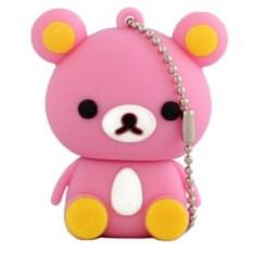 Розовая флешка Медвежонок