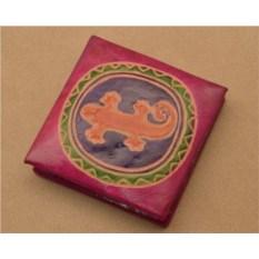 Монетница Socotra (Розовый, ящерка; тип 2; кожа)