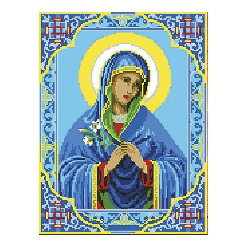 Вышивка бисером Богородица