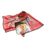 Легкий женский шарфик с цветочной композицией Marina D'este