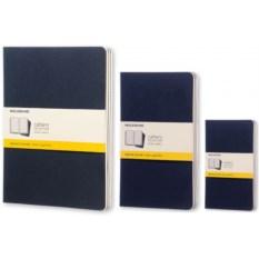 Синяя записная книжка в клетку Moleskine Cahier