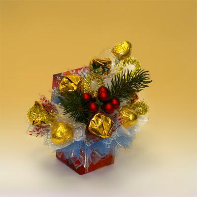 «Ягоды на снегу» букет из конфет