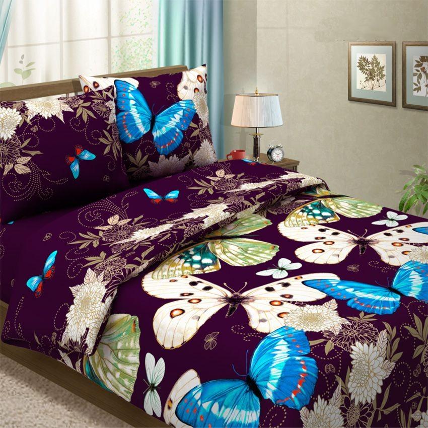 Комплект постельного белья Бабочки (1,5-спальный)