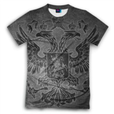 Мужская футболка 3D с полной запечаткой Герб России