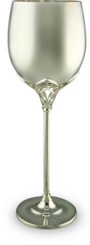 Винный серебряный бокал Тюльпан