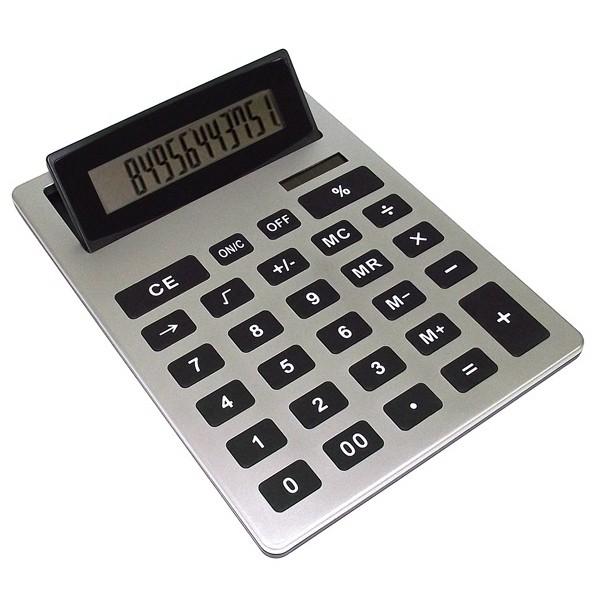 Серебристый калькулятор Очень большой