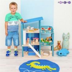 Игрушечный домик Лазурный берег с мебелью (21 предмет)
