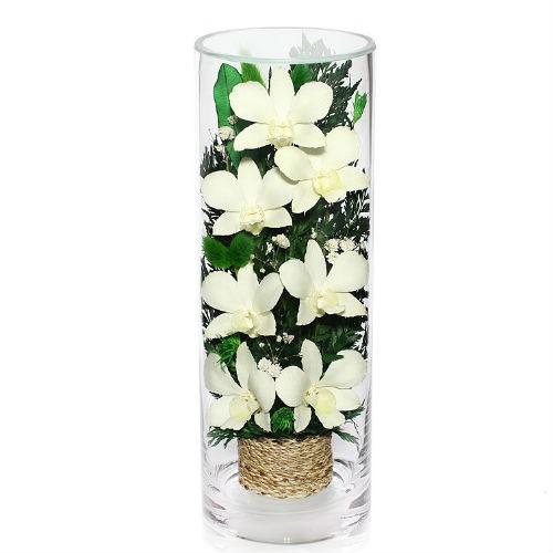 Цветочная композиция Белые орхидеи