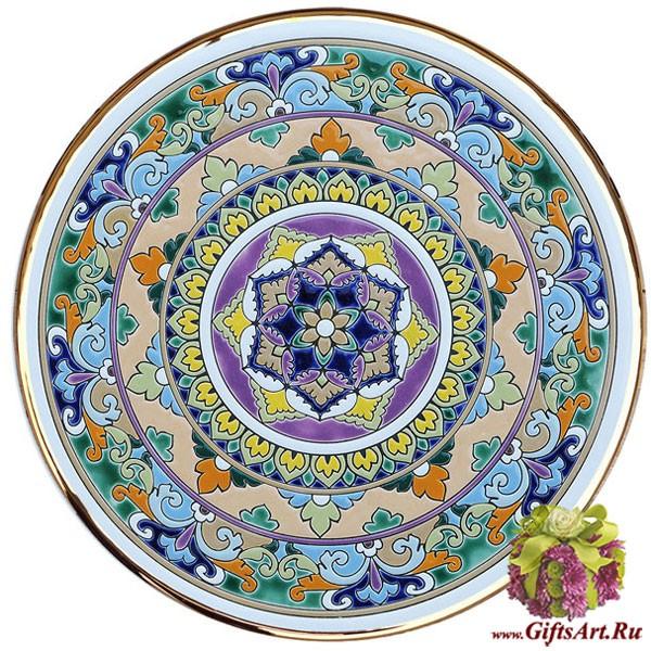 Настенная керамическая декоративная тарелка