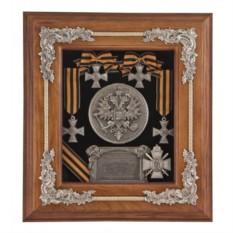Деревянная настенная ключница Георгиевские кресты
