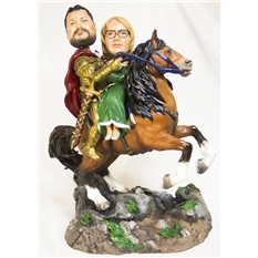 Портретная статуэтка Рыцарь с принцессой
