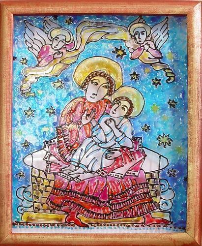 Настенное панно Богоматерь с младенцем