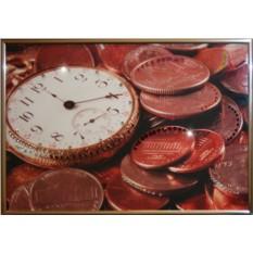 Картина с кристаллами Сваровски Время деньги-2