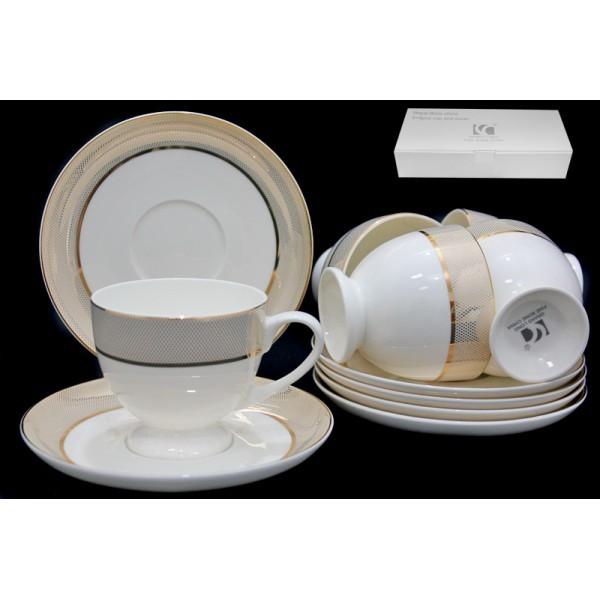 Чайный набор Золотая симфония из 12 предметов (фарфор)
