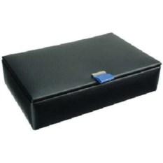 Черная шкатулка с голубым язычком для запонок LC Designs