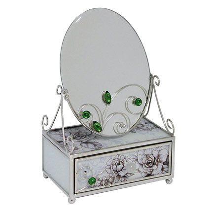 Зеркало со шкатулкой Благородный изумруд